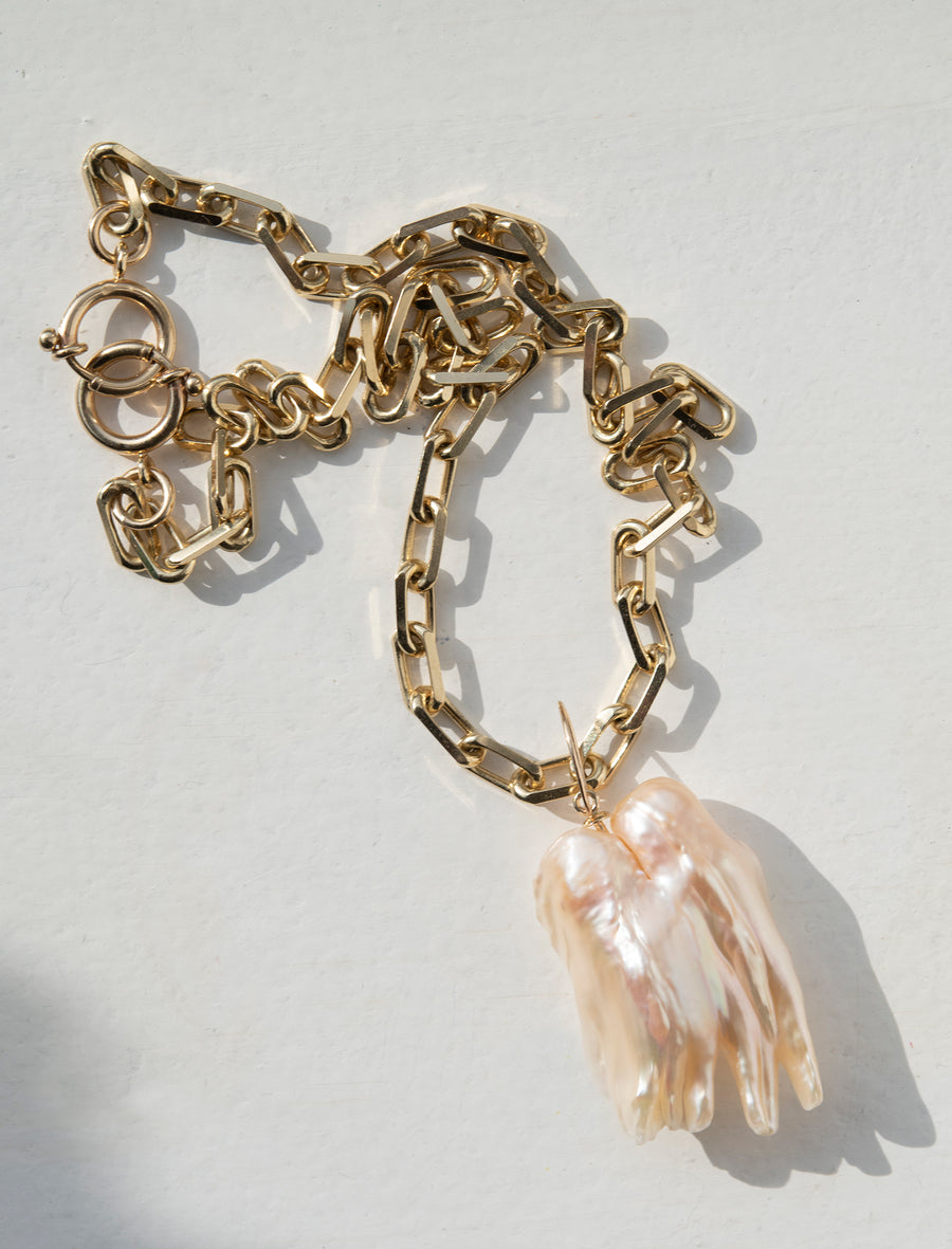 The Hand of Protection Pearl Necklace