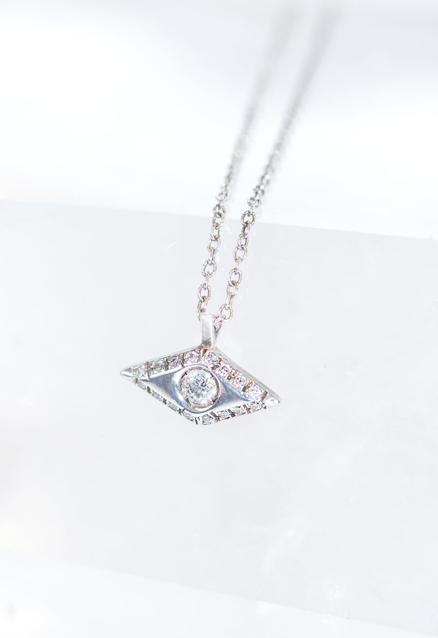 Victorian Diamond Eye Necklace