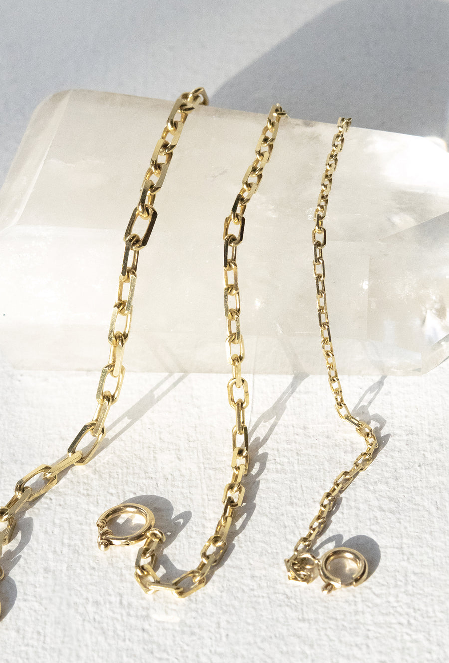 Elongated Diamond Cut Cable Chain 5.1mm Necklace