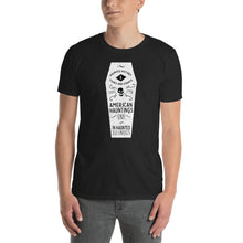 Load image into Gallery viewer, White Coffin Short Sleeve Tee Shirt - American Hauntings