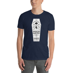 White Coffin Short Sleeve Tee Shirt - American Hauntings