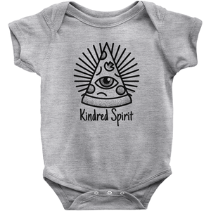 Kindred Spirit Pizza Onesie | Short Sleeve Rib | Unisex | 16 Colors