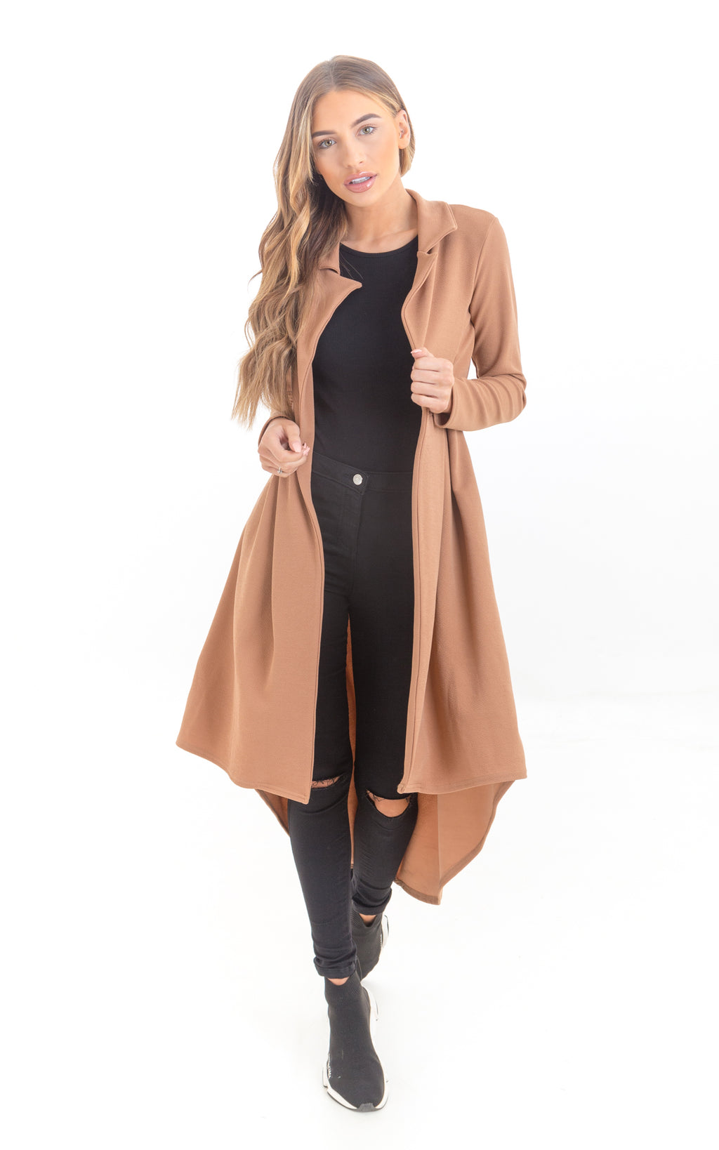 Tan Waterfall Jacket