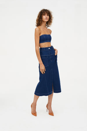 DENIM DEBUTANTES SKIRT