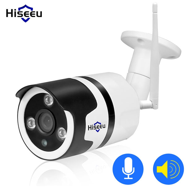 Hiseeu wireless outdoor security camera 1080P 720P waterproof 2.0MP audio  Toffee Tops Gear