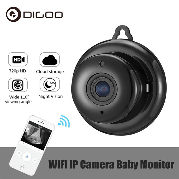 DIGOO Wireless Baby Monitor - Mini WIFI Night Vision Home Security IP Camera  Toffee Tops Gear