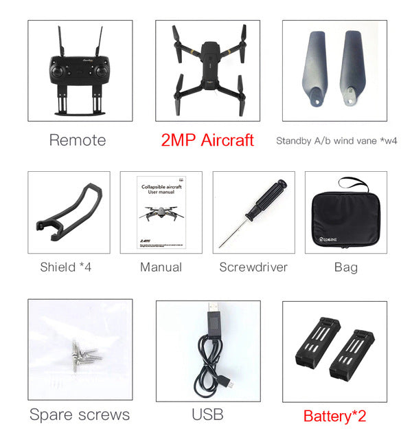 Eachine E58 WIFI FPV With Wide Angle HD Camera High Hold Mode Foldable Arm RC Quadcopter RTF Drone VS VISUO XS809HW JJRC H37  Toffee Tops Gear