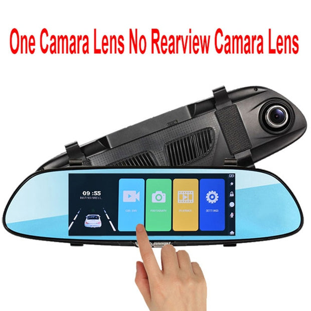 E-ACE DashCam DVR Full HD 1080P 7.0 Inch Dual Lens with Rear View Camera  Toffee Tops Gear