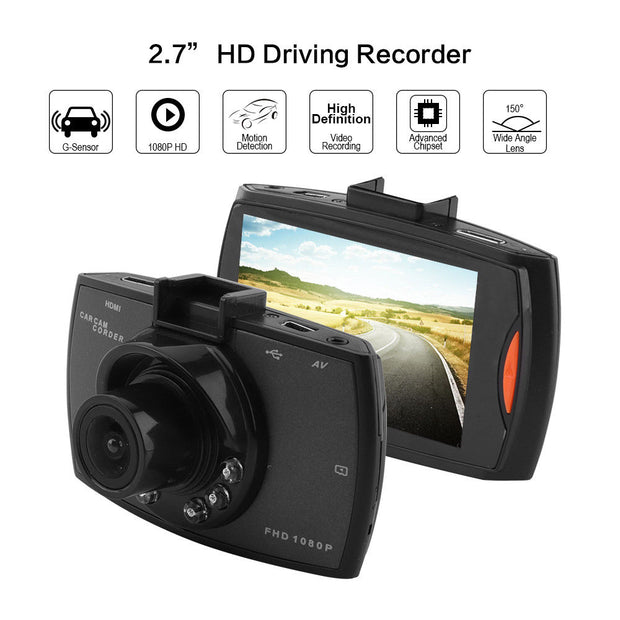 DashCam Full HD 1080P 140 Degree - Night Vision - G-Sensor  Toffee Tops Gear