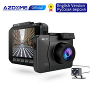 AZDOME M06 DASH CAM - WiFi Built in GPS - Dual Lens - Front + Rear Camera  Toffee Tops Gear