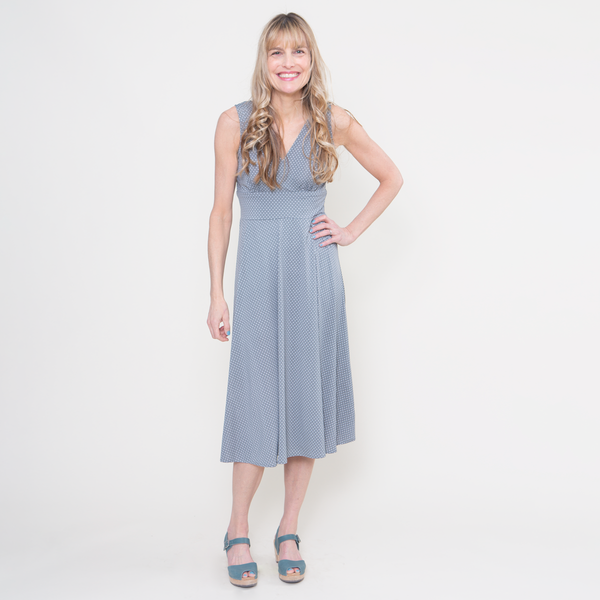 Abigail Dress in Dove Dots by Karina Dresses