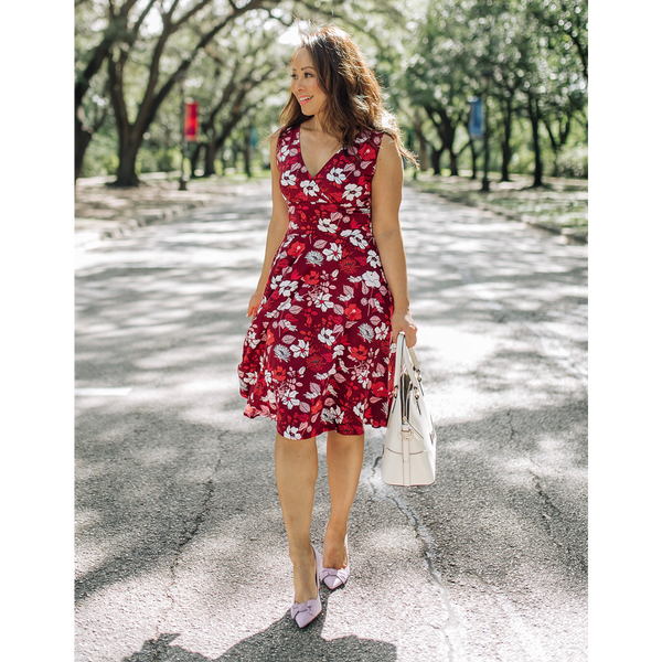 Audrey Dress in Hello Hibiscus by Karina Dresses