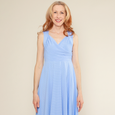 Tara Dress in Forget Me Not Dot by Karina Dresses