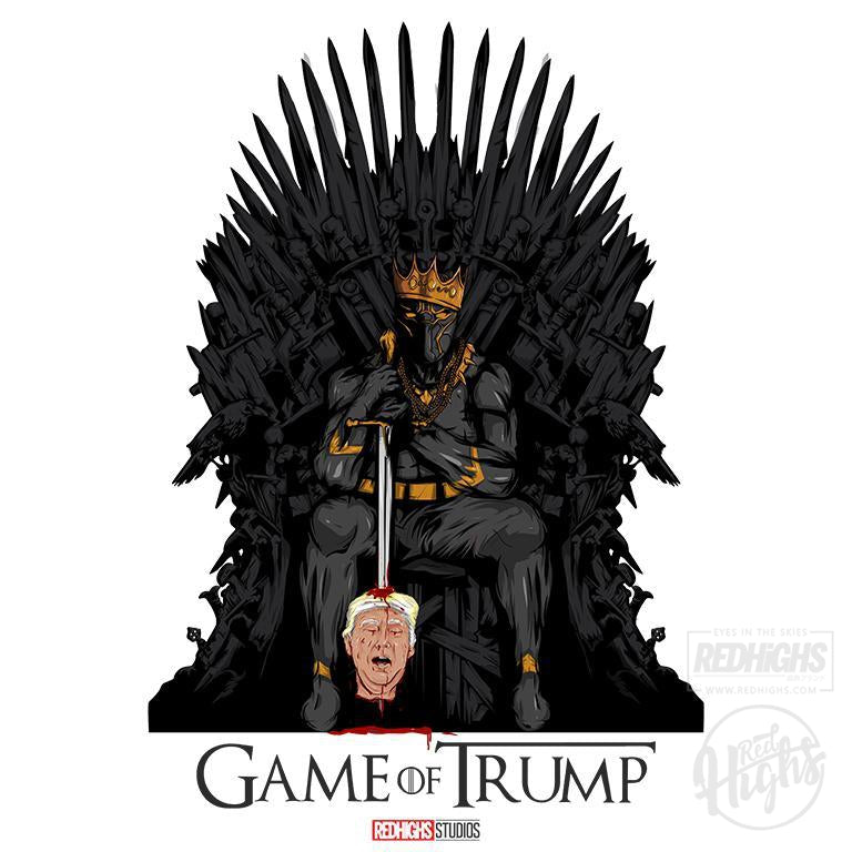 men tshirt - game of trump - white-Men's T-Shirts-Red Highs-redhighs-streetwear-clothing