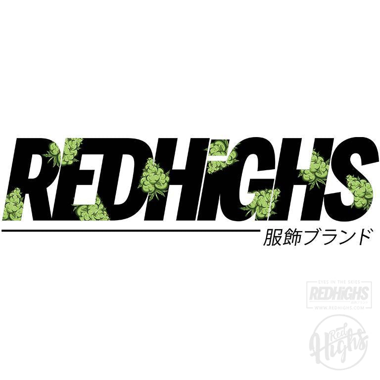 men tshirt - red highs weed 2 - black-Men's T-Shirts-Red Highs-redhighs-streetwear-clothing