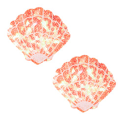 Moana Coral Sparkle Sequin Mermaid Shell Pasties