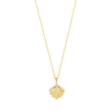 Load image into Gallery viewer, The Mini Shell Necklace | Hortense Jewelry - 14k yellow gold diamond pendant necklace, diamond heart pendant 14k yellow gold, diamond heart necklace rose gold, white gold teardrop necklace