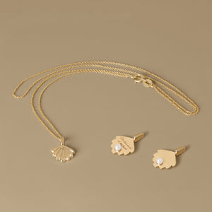 The Mini Shell Necklace | Hortense Jewelry - affordable designer necklaces, handcrafted ethical necklaces, exquisite gold necklace