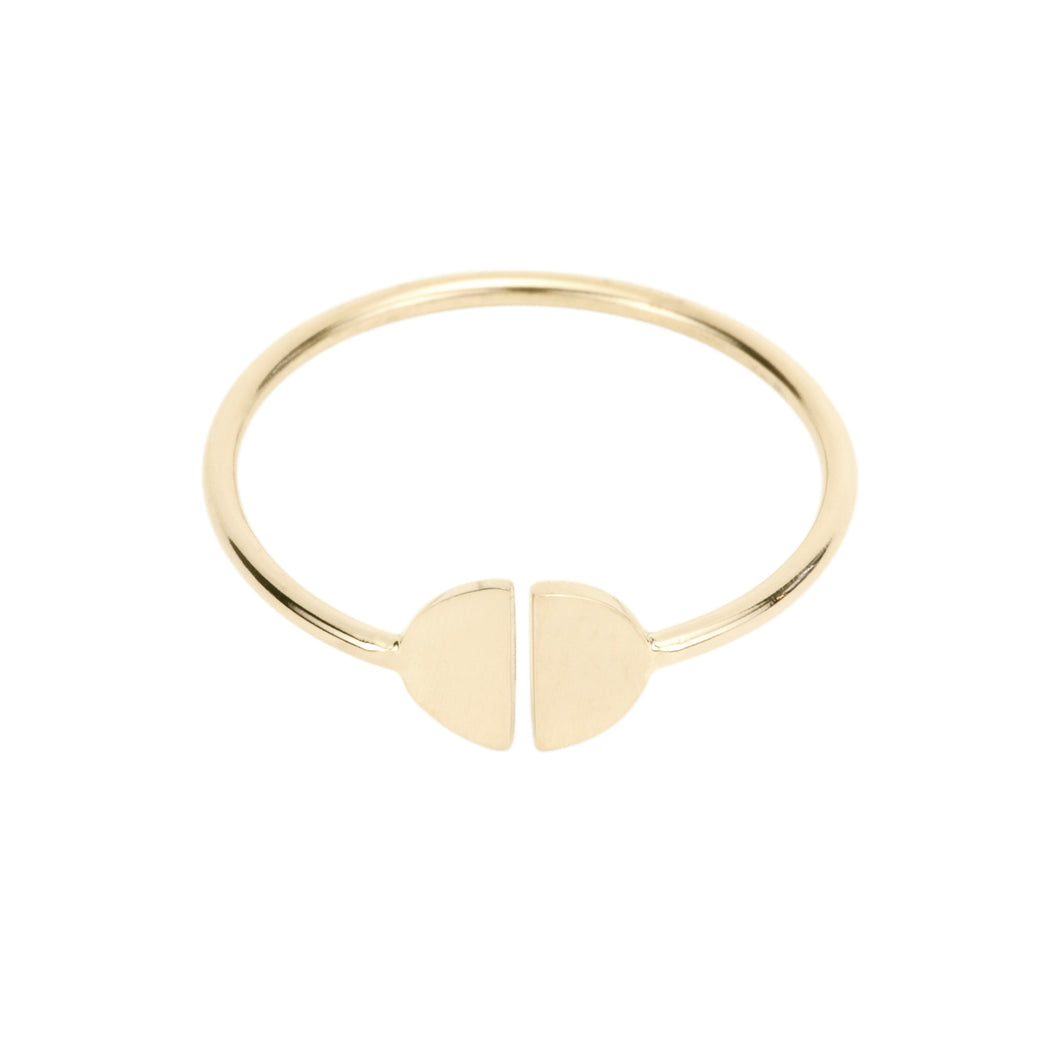 Baby Girl-Half Moon ring | Hortense Jewelry - handcrafted 14k gold ring, exquisite 14k gold ring, minimalist 14k gold ring