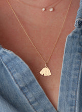 Load image into Gallery viewer, Triple Tag Necklace-Cable Chain | Hortense Jewelry - affordable designer necklaces, handcrafted ethical necklaces, exquisite gold necklace