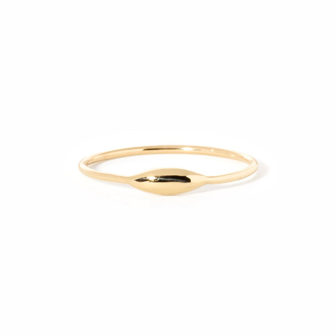 Rise and Shine-Ring 14K YG size 4 | Hortense Jewelry - handcrafted 14k gold ring, exquisite 14k gold ring, minimalist 14k gold ring
