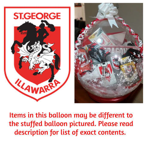 Dragons Nrl Stuffed Balloon #02
