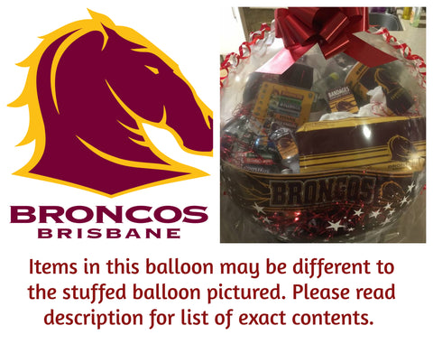 Broncos Nrl Stuffed Balloon #02