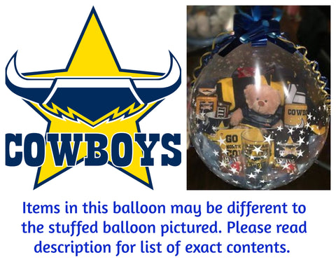 Cowboys Nrl Stuffed Balloon #02