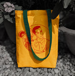 Young Satyajit Tote Bags, , Yellow Curtain , Yellow Curtain - Yellow Curtain
