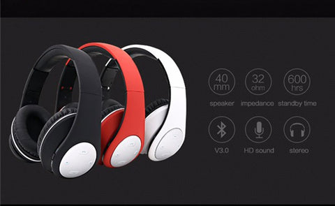 Wholesale price BT-990 Headband Bluetooth Wireless Headphone Stereo Foldable Adjustable Length Voice Prompt