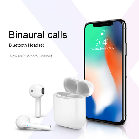 X8 TWS Wireless Bluetooth V5.0 Earbuds Air pods Binaural Calls