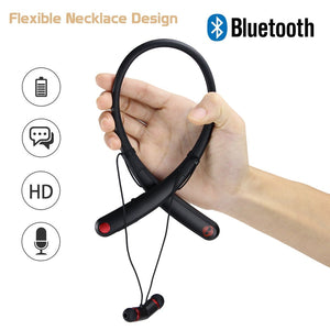 Stylish Neckhand Bluetooth Headset Hv-990 Magnetic Suction Desgin Flexible High Quality Sound Sterio For android iphones China Dealer Supplier