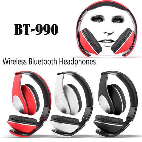 Wholesale China BT-990 bluetooth Headphones headset with Bluetooth 4.0 Stereo and microphone for music wireless headphone BQB Certification