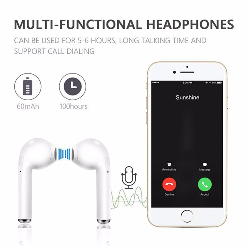 HBQ i7 Tws Twins Bluetooth Wireless Earbuds Headsets