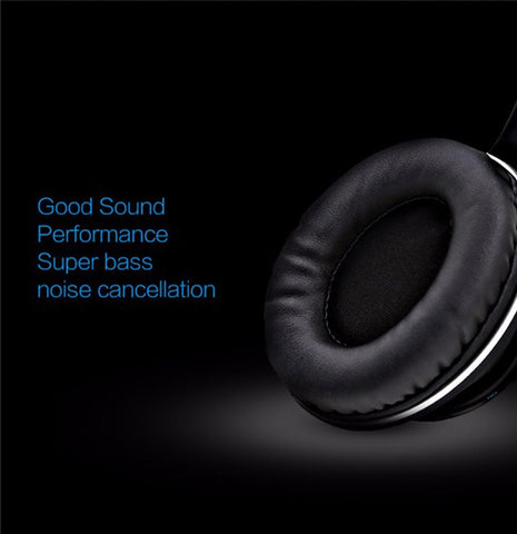 BT-990 Headband Bluetooth Wireless Headphone Stereo Foldable Adjustable Length Voice Prompt