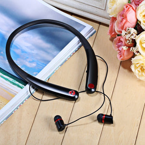 HV-990 Wireless Bluetooth Sport Magnetic Suction Earphones Headsets Neckband Headphone for Samsung iPhone