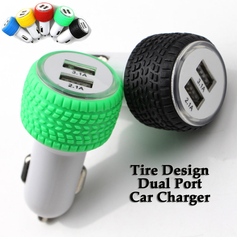 Wholesale China Supplier OEM Tire design dual port car charger