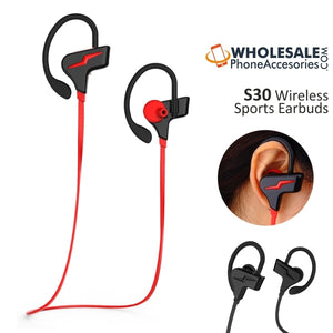 China Supplier S30 Wireless Bluetooth Sports Earbuds Headsets Cheap Price Wholesale USA Distributor Factory Bulk Lots  Manufacturer
