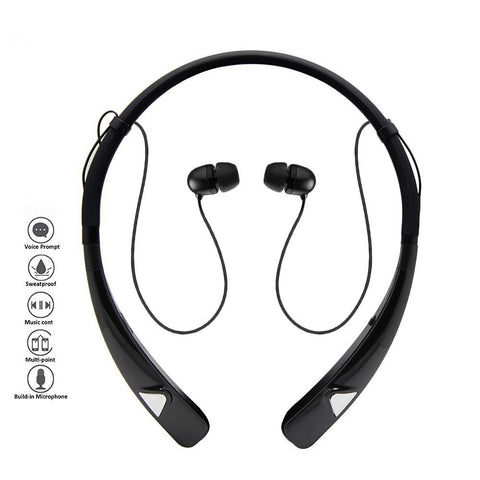 Sweat proof HV-980 Bluetooth Headphones Wireless Neckband Headset HandsFree Stereo Earphones Noise Canceling with Mic for android & apple