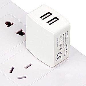 V71 2A Dual USB Port Fast Wall Charger Travel Home Adapter