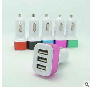 3.1A 3 USB Port Car Charger Adapter