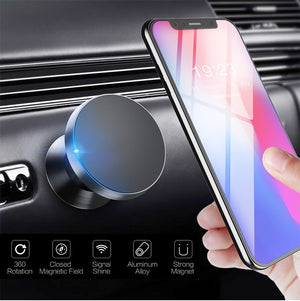 Universal Magnetic Car Phone Mount Dashboard Cell Phone Holder 360° Rotation for All iPhone Samsung Smartphone GPS