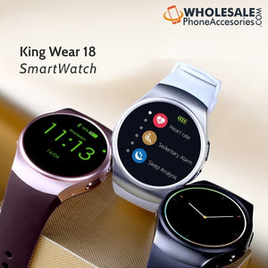 China Supplier Cheap Price Wholesale USA Distributor Factory Bulk Lots  Manufacturer King Wear 18 Smartwatch Heart Rate Fitness Tracker