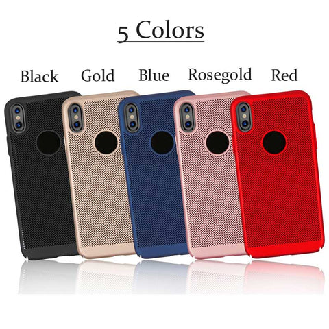 Slim hard PC Dotted iPhone Xs iPhone Xs Max iPhone XR 8 7 Plus Case Cover Matte Ventilated