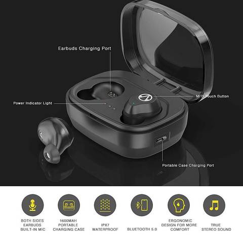 X10 TWS 5.0 3D Stereo Sound Wireless Bluetooth earbuds One touch AI