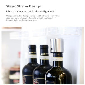 Electric Vacuum Smart Wine Stopper Stainless Steel-Hykoshop