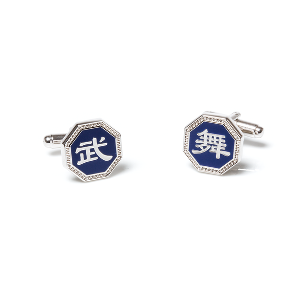 Martial Arts/Dance Cufflinks — Silver