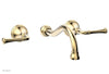 BEADED Wall Tub Set - Lever Handles 207-56