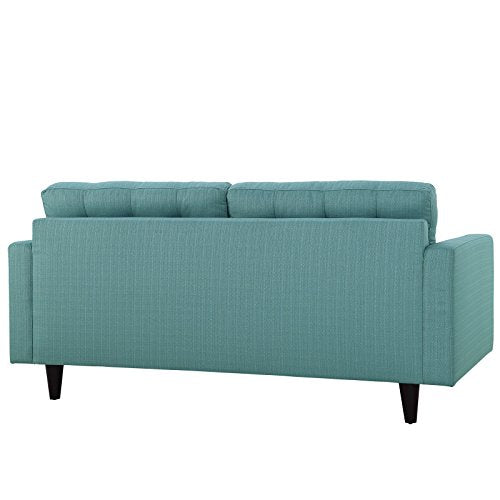 Modway Empress Mid-Century Modern Upholstered Fabric Loveseat In Laguna