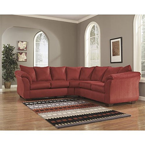 Pemberly Row L-Shaped Mic Sectional in Salsa